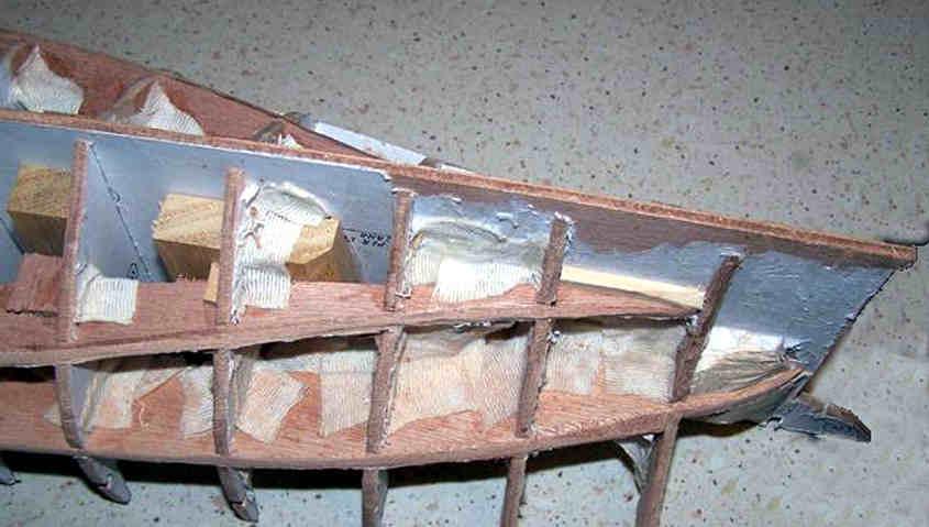 Cutty Sark sgrossatura dello scafo