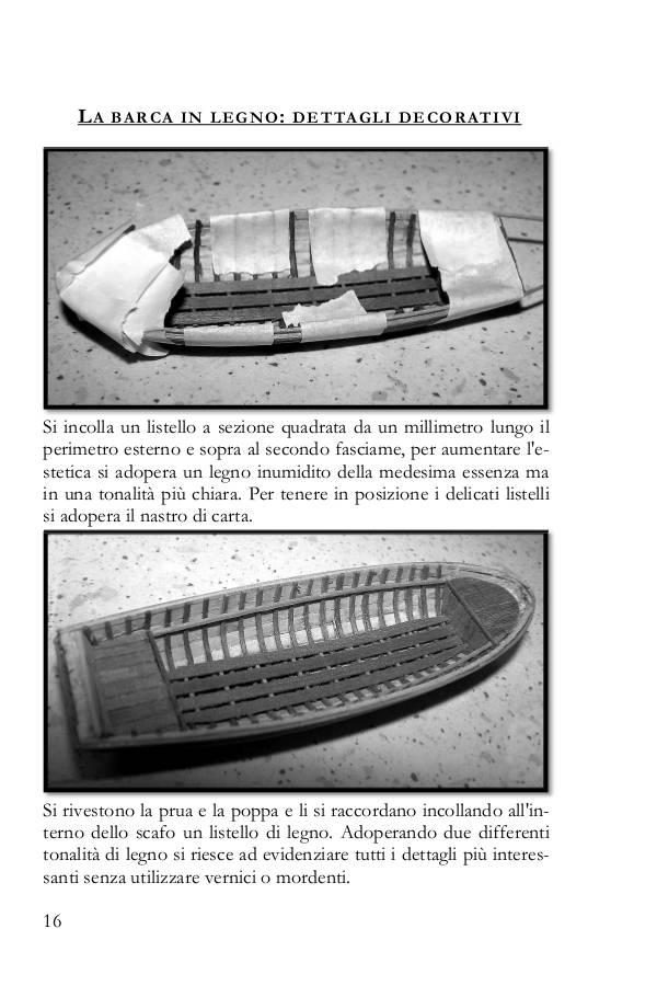 In questa parte del libro si illustra come costruire una scialuppa con il sistema delle ordinate.