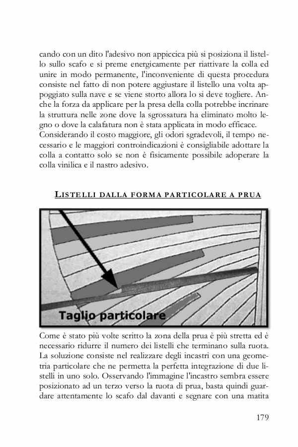 La pagina del libro mostra come ricavare le assi con intagli particolari.