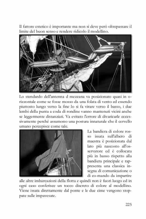 La pagina del libro illustra come applicare le bandiere in modo da sembrare realistiche.