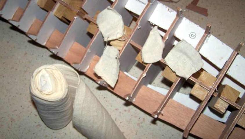 Cutty Sark uno step calafatura chiglia