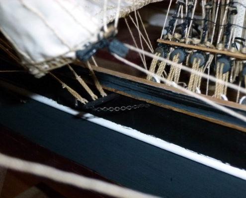 Cutty Sark dettaglio rigging centro nave