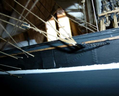 Le manovre al centro nave del Cutty Sark