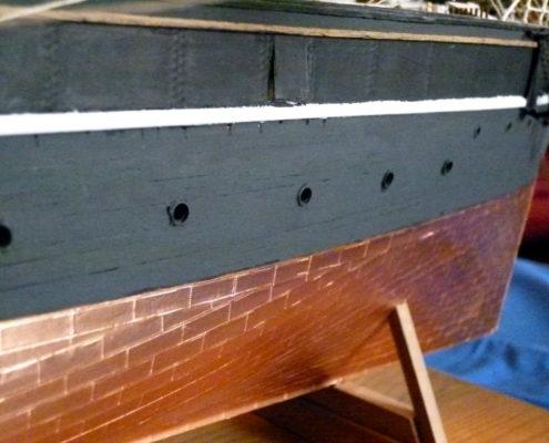 Lo scafo in rame del Cutty Sark