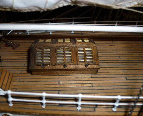 Il tambuccio di poppa del Cutty Sark