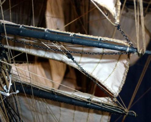 Complessità del rigging e delle manovre del Cutty Sark