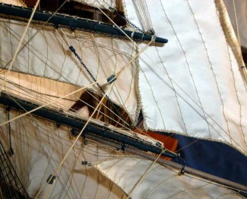 Complessità delle manovre e rigging del Cutty Sark