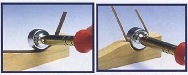 Listelli piegati con un attrezzo elettrico
