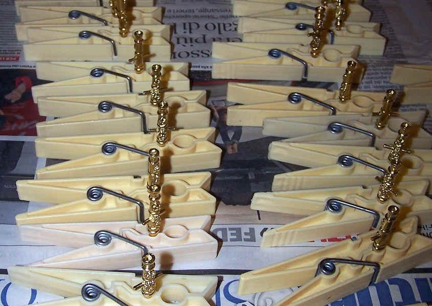 Canne in ottone dorato fornite nei kit