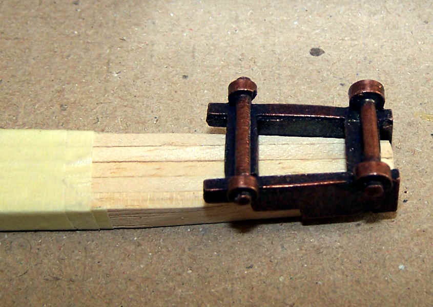 Modificare la sagoma per inserire le traversine