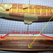 Il secondo fasciame segue l'insellatura della scialuppa