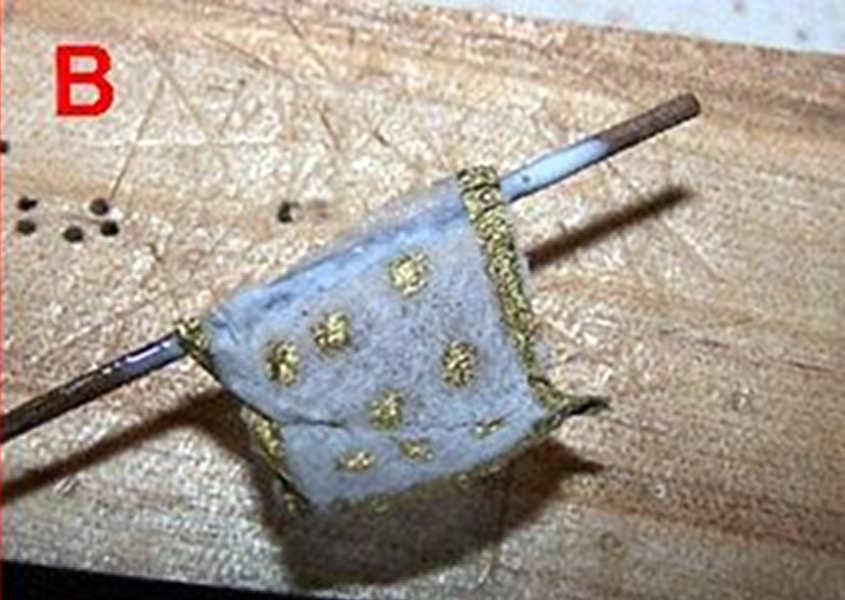 La bandiera è incollata su un'asta (immagine a bassa qualità)