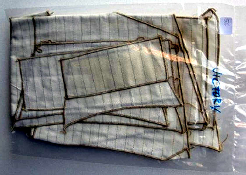 Le vele in kit: nella foto quelle della hms Victory