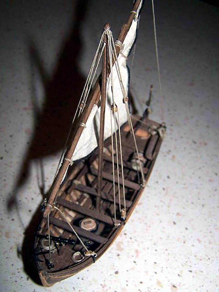 Una vista della barca finita