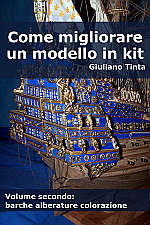 Copertina del libro COME MIGLIORARE UN MODELLO IN KIT vol 2 barche alberature colorazione