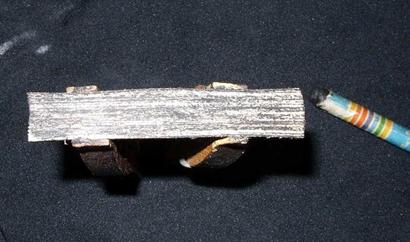 La mina della matita tende a sciogliersi con il trattamento del turapori