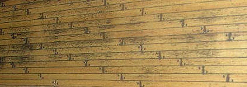 L'uso di impregnanti può interagire chimicamente rendendolo solubile il pigmento macchiando il ponte