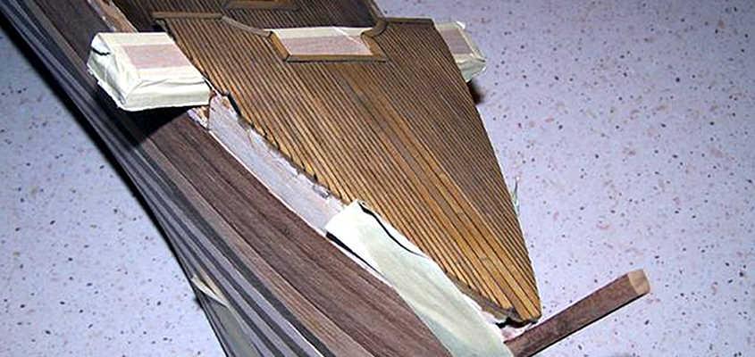 Il castello di prua del Cutty Sark ha 4 king planks che rafforzano la struttura