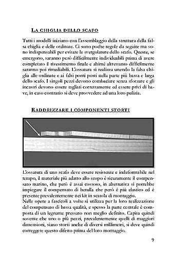 La pagina del libro mostra come si possono raddrizzare le ordinate storte.
