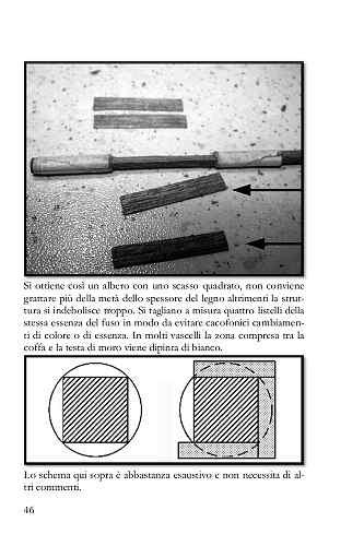 In questo step si illustra il modo per ottenere uno scasso quadrato partendo da un albero rotondo mantenendo integra la solidità dell'insieme.
