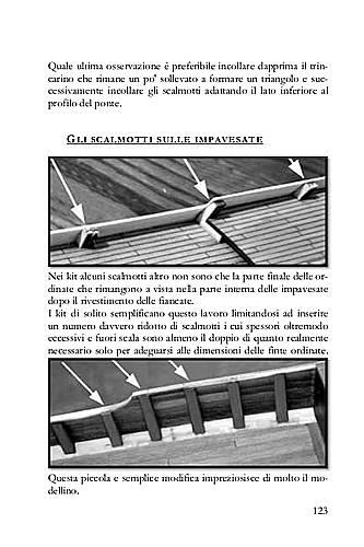 Nei kit gli scalmotti sono ricavati dalle ordinate che rimangono a vista nella parte interna delle impavesate dopo il rivestimento delle fiancate. Questo errore può essere corretto in modo semplice ed efficace.
