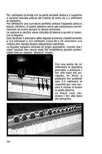 Per effettuare una curvatura perfetta dell'anello della landa si utilizza una pinza a becchi cilindrici.