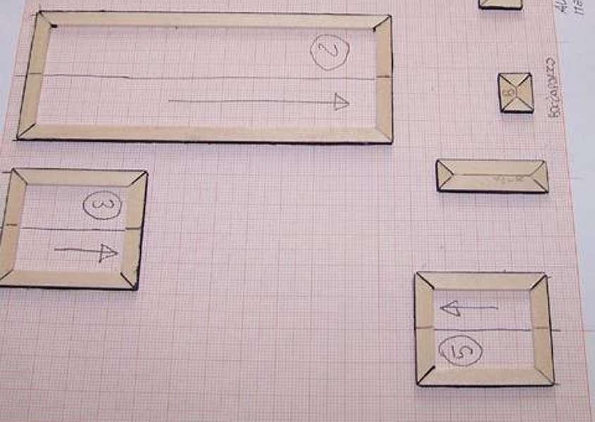 Si segna con una freccia anche la direzione del quadrilatero.