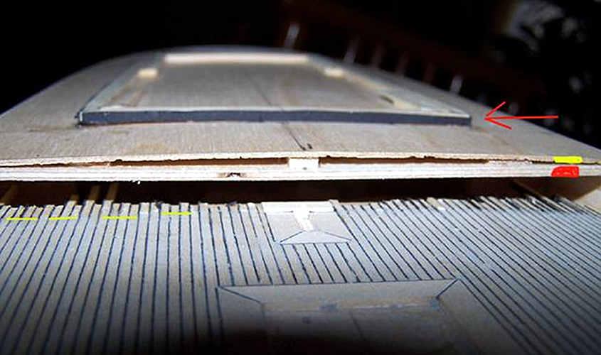 Il ponte di poppa viene arcuato in modo molto semplice