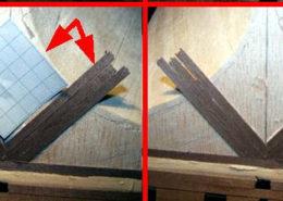 Dopo i primi tre listelli si toglie la carta quadrettata