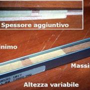 La rastrematura dei listelli avviene solo nei primi 20, 25 cm
