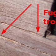 Le fughe larghe e le fessure rappresentano un errore comune nel rivestimento del secondo fasciame.