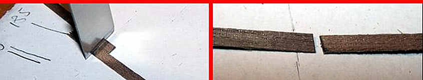 Accostano due listelli e tagliandoli assieme si ottiene un incastro dalla corrispondenza perfetta