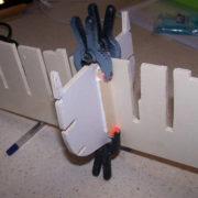 I rinforzi devono essere sempre quattro e tutti della medesima sezione e lunghezza.