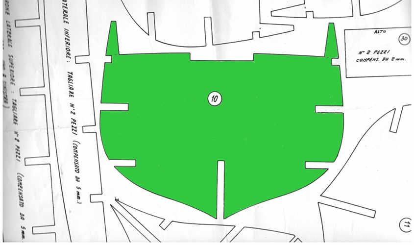 Il primo allineamento va eseguito ad occhio in modo approssimativo.