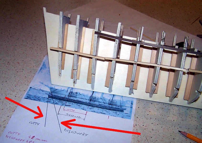 Si esaminano le differenze della prua tra il Cutty Sark e la RRS Discovery.