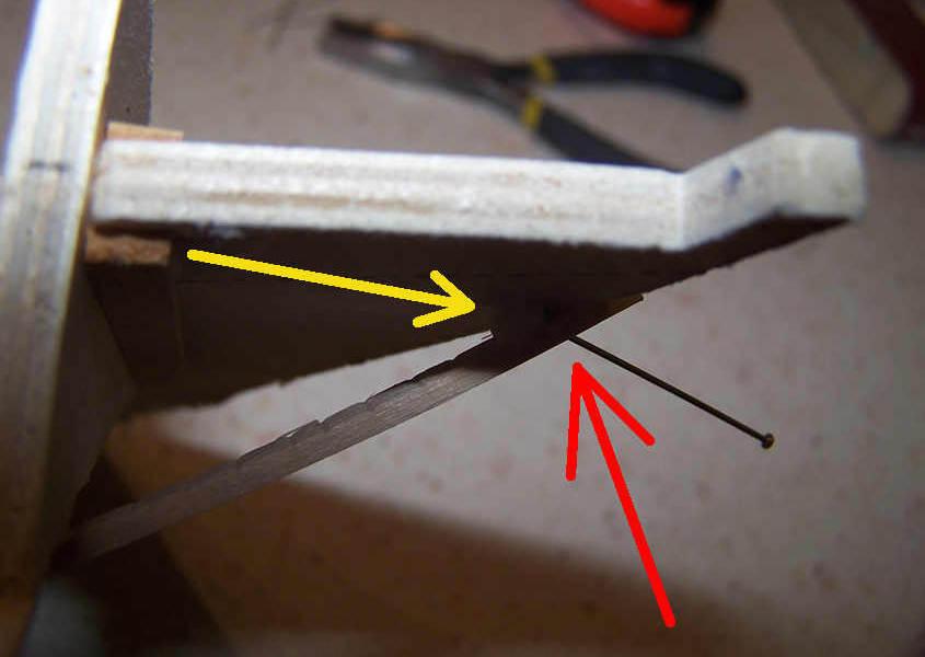 Un punto critico è rappresentato dalla giunzione del listello sulla ruota di prua.