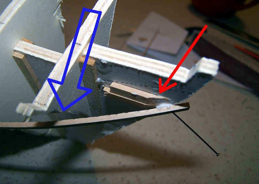Con i cunei aumento la superficie di contatto con il listello a prua.