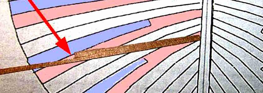 Un listello con l'incastro sagomato