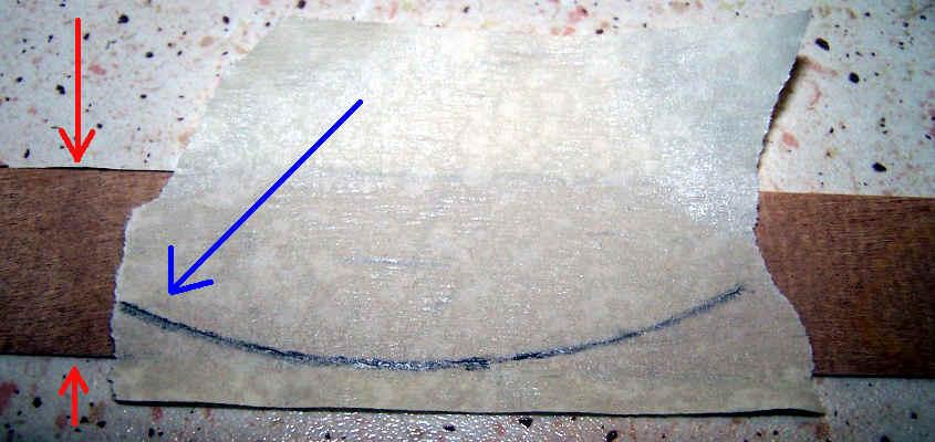 Da un listello alto 10 mm si può ricavare il componente necessario a rivestire la poppa della RRS Discovery.
