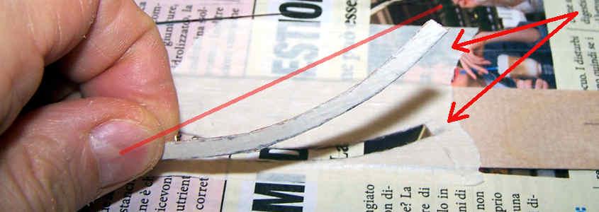 Ricavo un listello curvo alto 3,5 mm.