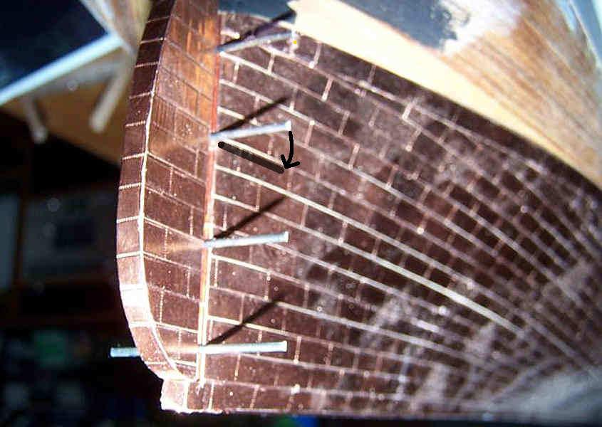 Realizzazione delle cerniere del timone del Cutty Sark (step 1).