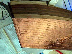 Lo scafo del Cutty Sark rivestito con lastre di rame