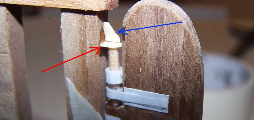 L'agugliotto è fissato in posizione da una struttura complessa.