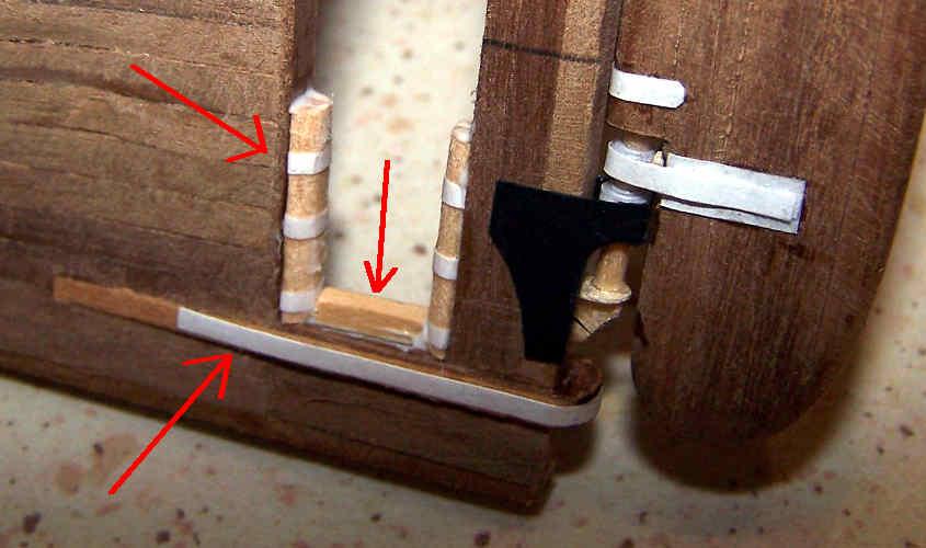 Aggiungo i dettagli mancanti alla struttura del porta elica e del timone della RRS Discovery.