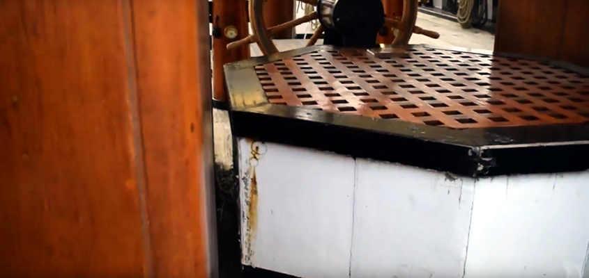 La struttura ottagonale permette di ispezionare ed estrarre l'elica.