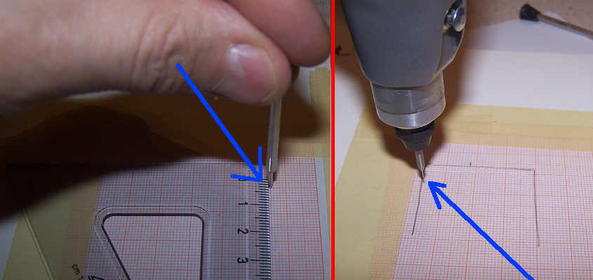 Con un punteruolo segno i punti di foratura per inserire i rivetti.