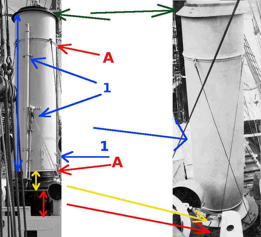 L'immagine qui sopra è utile per evidenziare e pianificare il lavoro di costruzione della canna fumaria.