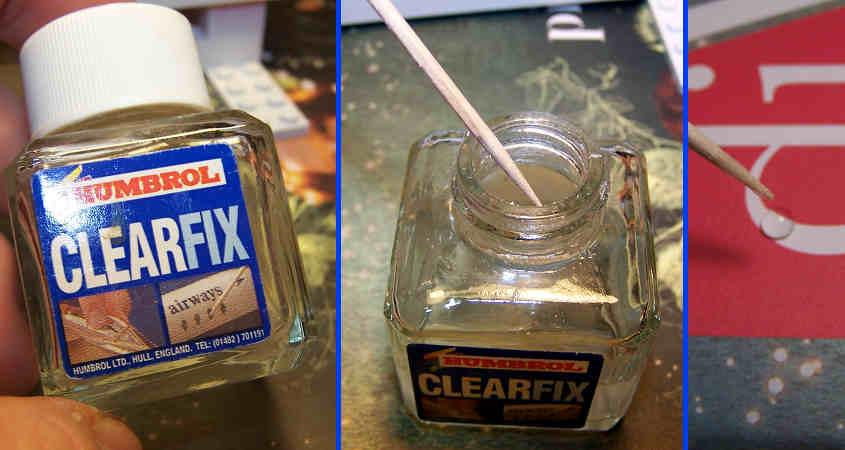 Per simulare il vetro utilizzo il prodotto clearfix fella Humbroll.