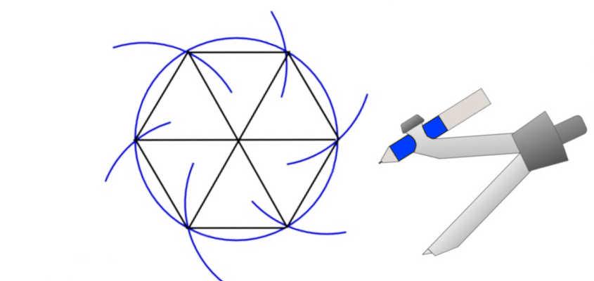Per disegnare un esagono è sufficiente un compasso.
