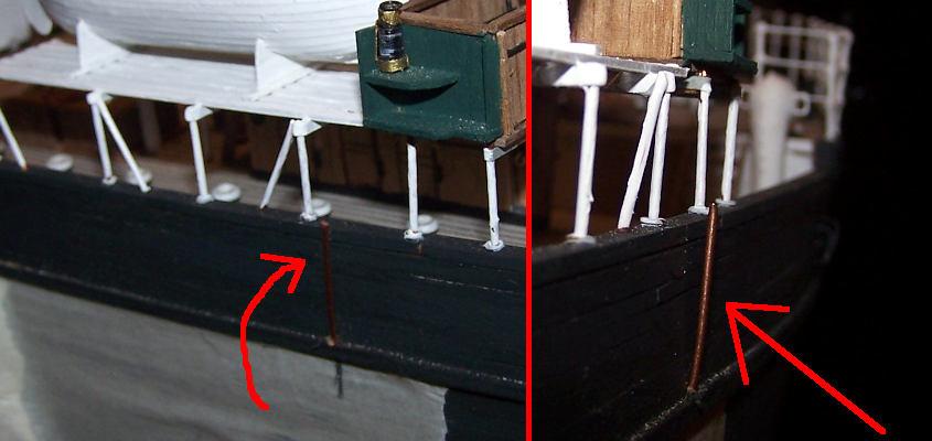 I perno per agganciare le gru vendono piegati affinché siano perpendicolari.